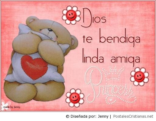 Postal Dios Te Bendiga Princesa Postales Cristianas